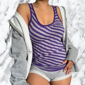 4 for $20 Garage Purple Striped Top